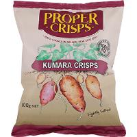 Proper Crisps - Vegetable Large 100g - Kumara Lightly Salted