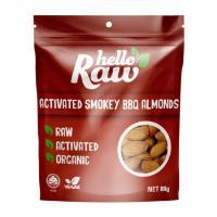 Hello Raw Almonds 80g - Smokey Bbq