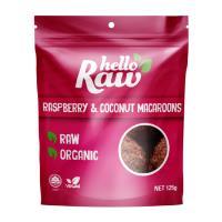 Hello Raw Macroons 125g - Raspberry & Coconut
