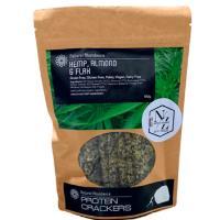 Natural Abundance Protein Crackers 100g - Hemp, Almond And Flax