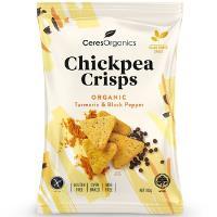 Ceres Organic Chickpea Crisps 100g - Turmeric & Black Pepper