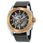 Fossil Rose Gold Leather Automatic Mens Watch