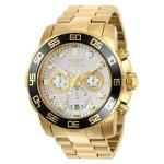 Invicta Mens Pro Diver Gold Stainless-Steel Quartz Watch