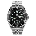 Seiko Mens 5 Automatic Silver Stainless-Steel Automatic Watch