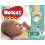 Huggies Ultra Dry Infant 4-8kg Size 2 jumbo pack 96pk