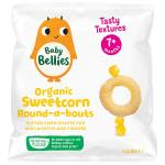 Little Bellies Round Abouts Baby Snacks Super Sweetcorn Corn Cakes 12g