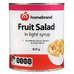 Homebrand Fruit Salad In Syrup can 825g