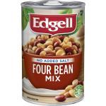 Edgell Beans Four Bean Mix No Added Salt 400g