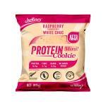 Justine's Box Of 10 X 25g Raspberry White Choc Keto Friendly Protein Cookie
