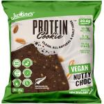 Justine's Box Of 12 X 85g Vegan Nutty Choc Keto Friendly Protein Cookie