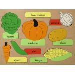 Maori Vegetables Wooden Puzzle
