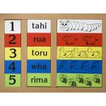 Maori Numbers 1-5 Wooden Puzzle