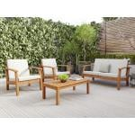 Flaxmere Hardwood Outdoor Sofa Set 4 Piece