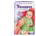 Treasures Comfort Infant Nappies 4-7kg bulk pack 46pk