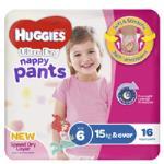 Huggies Ultra Dry Nappy Pants Girl 15+ Kgs Size 6 16pk