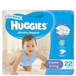 Huggies Ultra Dry Crawler Girl Nappies 6-11kg Size 3 bulk pack 44pk