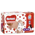 Huggies Essentials Toddler Nappies Unisex 10-15kgs Size 4 jumbo pack 46pk