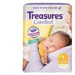 Treasures Comfort Newborn Nappies Up To 5kgs bulk pack 52pk
