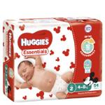 Huggies Essentials Infant Nappies Unisex 4-8kgs Size 2 jumbo pack 54pk