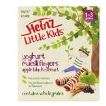 Heinz Little Kids Toddler Snacks Muesli Apple Blkcurnt/yoghurt 15g bars 6pk