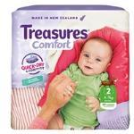 Treasures Comfort Infant Nappies 4-7kg jumbo pack 84pk