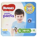 Huggies Ultra Dry Nappy Pants Boy 12-17kgs Size 5 18pk