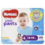 Huggies Ultra Dry Nappy Pants Boy 9-14 Kgs Size 4 20pk