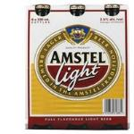 Amstel Low Alcohol Beer Light Lager 330ml Btls 6pk