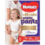 Huggies Ultimate Walker Nappy Pants Nappies Size 5 15-18kgs jumbo pack 50pk