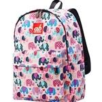 ab New Zealand Kids Canvas Backpack (Pinky Eleph) - AB-KBP-PE
