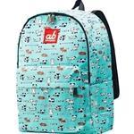 ab New Zealand Kids Canvas Backpack (Kitty on Mint) - AB-KBP-KM