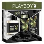 Playboy Play It Wild EDT 50ml Mens 2pcs