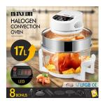 Maxkon 17L Halogen Oven Cooker Electric Air Fryer 3Hr-Timer & LED Screen White