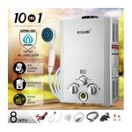 Maxkon 520L/Hr Portable 10 in 1 Outdoor Gas LPG Instant Shower Water Heater - Silver