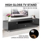 Modern High Gloss TV Stand Cabinet - Black