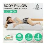 Luxdream Shredded Memory Foam Body Pillow Bamboo fabric cover