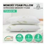Luxdream 2x Pressure Relief Shredded Memory Foam Pillow Bamboo cover