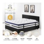 King Size Latex 30cm 5 Zone Mattress with Comfortable Euro Top