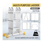 Shogun Certified Ladder Multipurpose Adjustable Aluminium Platform Step Ladder 12 Steps