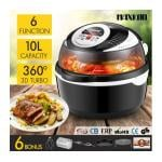 Maxkon 6-in-1 Portable Air Fryer Convection Oven Cooker-Black