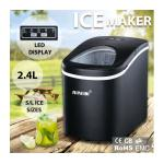 Maxkon 2.4L Portable Ice Maker Easy Sizes S/L with LED Display