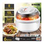 Maxkon 8in1 Multi Function Air Fryer Turbo Convection Oven Cooker-Gray