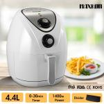 Maxkon 4.4L Oil Free Air Fryer Low Fat Rapid Cooker with Recipes Cooker - White