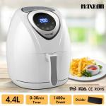 Maxkon 4.4L Digital Turbo Air Fryer 80% Oil Less with Recipes Rapid Healthy Deep Cooker