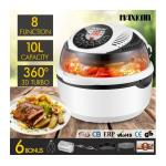 Maxkon New 10L Low Fat Air Fryer Convection Oven Cooker-White