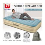 Bestway Single Air Bed 36cm Inflatable Blow Up Mattress w/Built-in Pillow & Pump