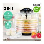 Maxkon 2-IN -1 Food Dehydrator Fruit Jerky Dryer Yogurt Maker Black-7 Trays