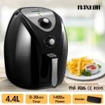 Maxkon NEW 4.4L Turbo Air Fryer 80% Oil less with Recipes Cooker - Black