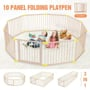 New 10 Panel Large Wooden Baby Playpen Toddler Kid Safety Yard Child Pet Barrier WY-1608