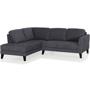 Parker Fabric Left Chaise Lounge Suite - Graphite